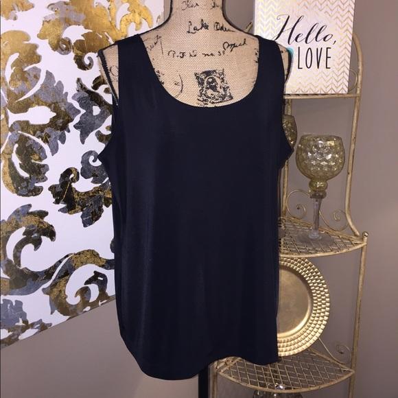 7516f8bad1ffd3 easywear by chicos Tops | Womens Plus Size Dressy Black Tank | Poshmark